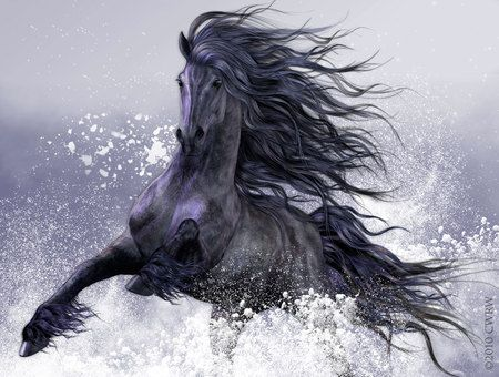 Fantasy Horses Wallpapers Include: Horse, Friesian,
