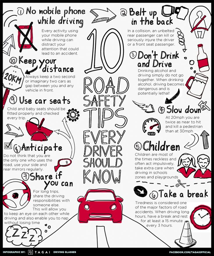 Ten Road Safety Tips Every Driver Should Know #Infographics — Lightscap3s.com