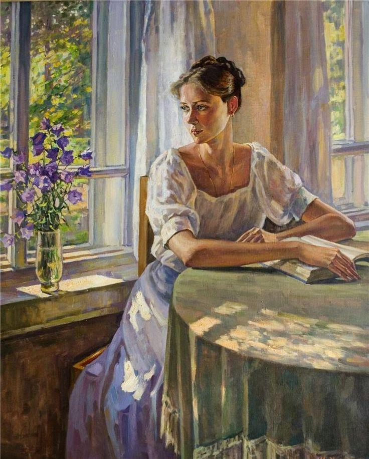 Marina V. Chulovich (Russian, b. 1956) - Portrait of a Daughter (2002) - Oil on canvas