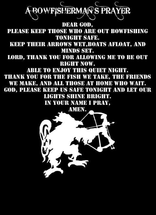 A Bowfishermans Prayer