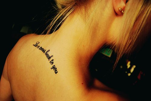 Cute Quotes For Tattoos Girly: Best 25+ Back Quote Tattoos Ideas On Pinterest
