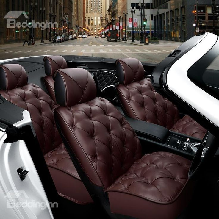 Luxurious Comfortable Cushions Diamond Pattern Design Seven Seats Universal Car Seat Covers