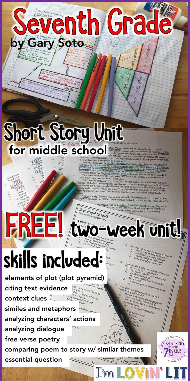 Seventh Grade by Gary Soto Short Story Unit Grade 7