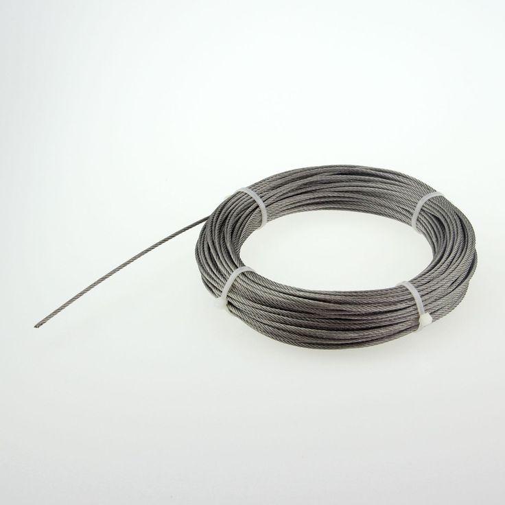 Cuerda de alambre de acero Inoxidable del envío libre 7*7 Diámetro de la cuerda: 0.8mm Rollo 200 M