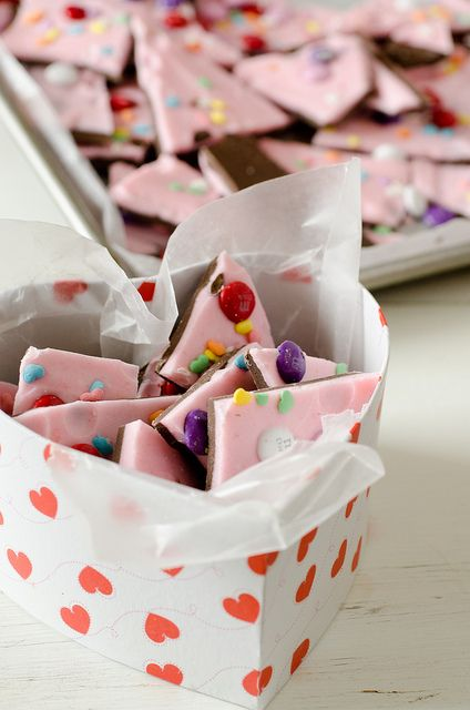 valentine ideas chocolate bark