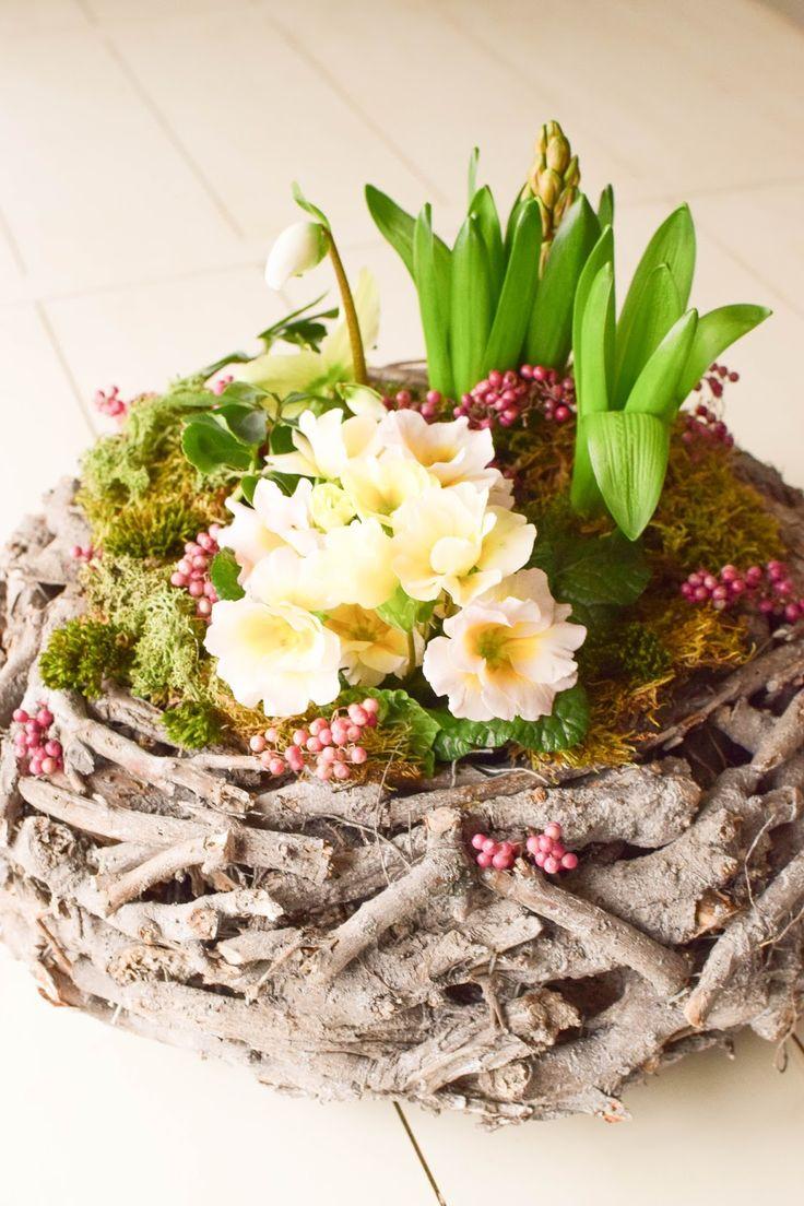 475 best deko f r den fr hling images on pinterest easter garten and blossoms. Black Bedroom Furniture Sets. Home Design Ideas