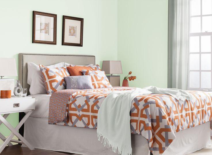 mint green bedroom