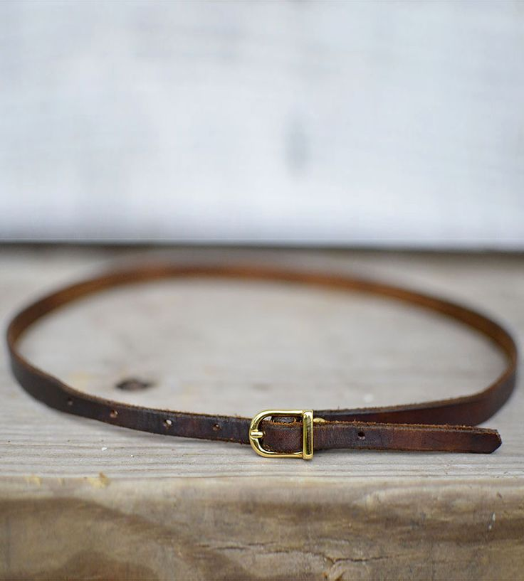 The Meriwether Brown Leather Belt by Bow + Arrow on Scoutmob Shoppe. A versatile, simple, and well-made brown leather belt features hand-cut and dyed hides and a sturdy brass buckle.