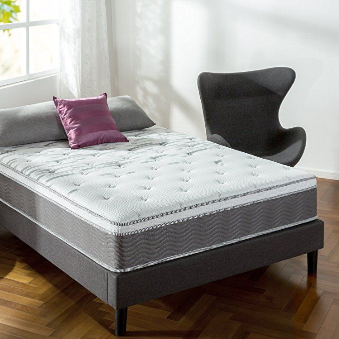 Zinus Extra Firm Icoil 12 Inch Support Plus Mattress Queen New