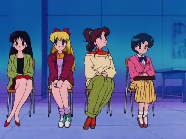 <b>Fighting evil by moonlight, looking fierce by daylight.</b> The Sailor Scouts may have been 90's heroes but they were also 90's fashion queens.