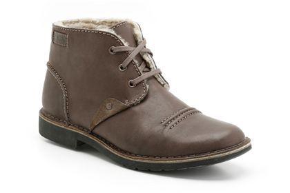 Clarks Motive Mix - Cuir fourré ébène - Boots détente homme | Clarks