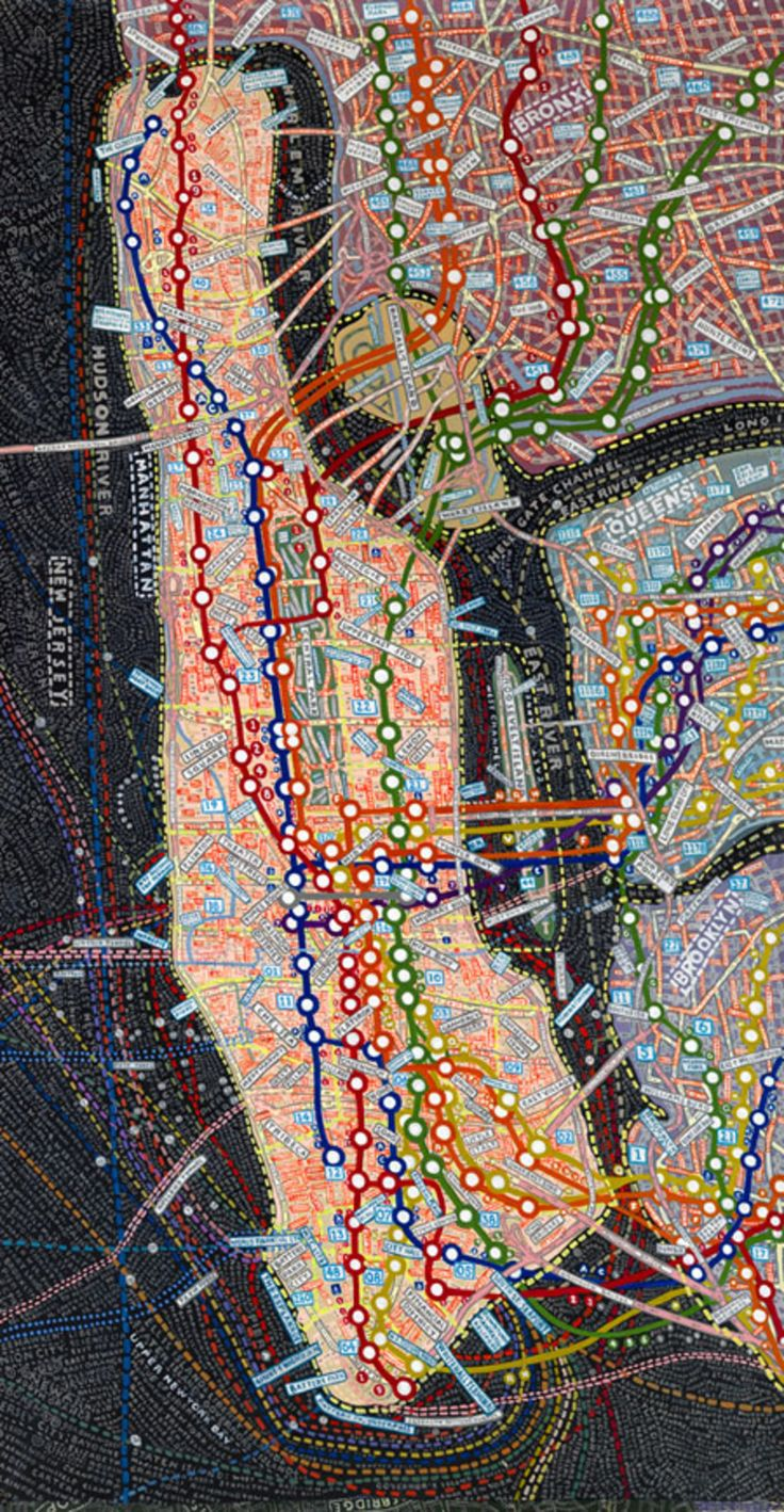 Best Maps Images On Pinterest - Nyc map art