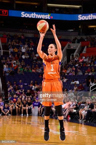 Diana Taurasi of the Phoenix Mercury shoots a free throw against the Atlanta Dream on September 3 2017 at Talking Stick Resort Arena in Phoenix...