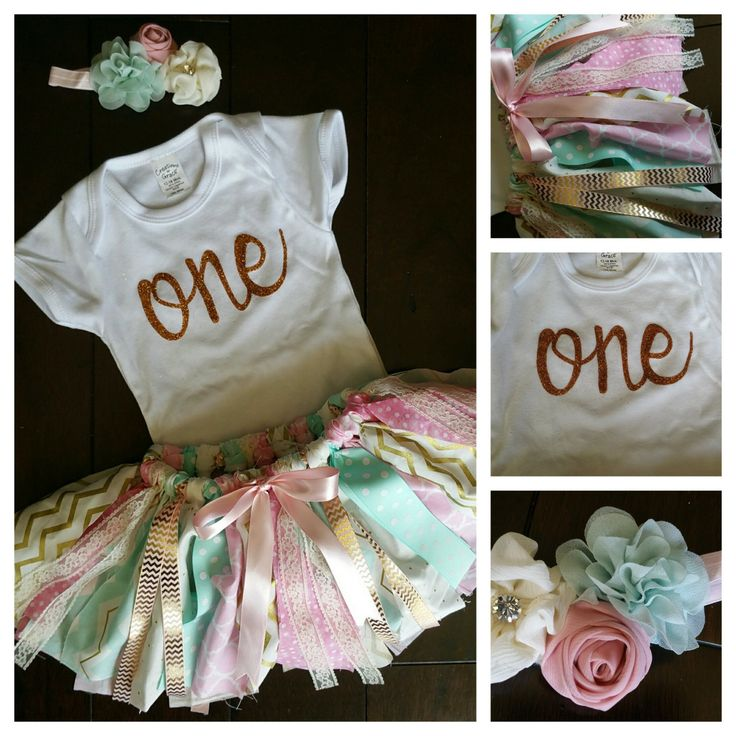 Shabby Chic first birthday outfit 1st 3 by ImaginationDesignd
