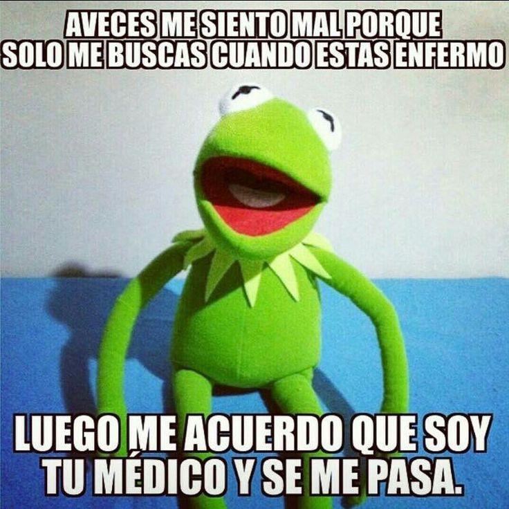 A veces me siento mal porque solo me buscas cuando estas enfermo #memes #medicina #doctores