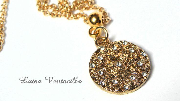 Schöne+zarte+Halskette+mit+Kreis+von+Luisa+Ventocilla+Shop+auf+DaWanda.com