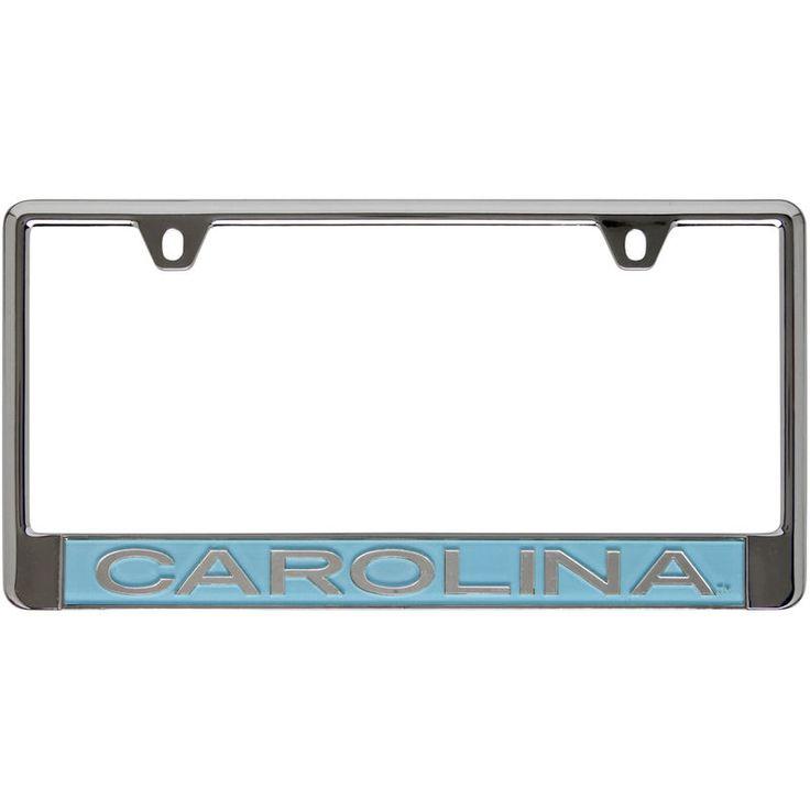 North Carolina Tar Heels Domed Chrome License Plate Frame