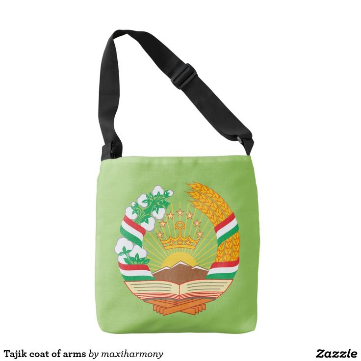 Tajik coat of arms tote bag