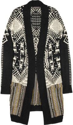 ShopStyle: Antik Batik Intarsia wool-blend cardi-coat