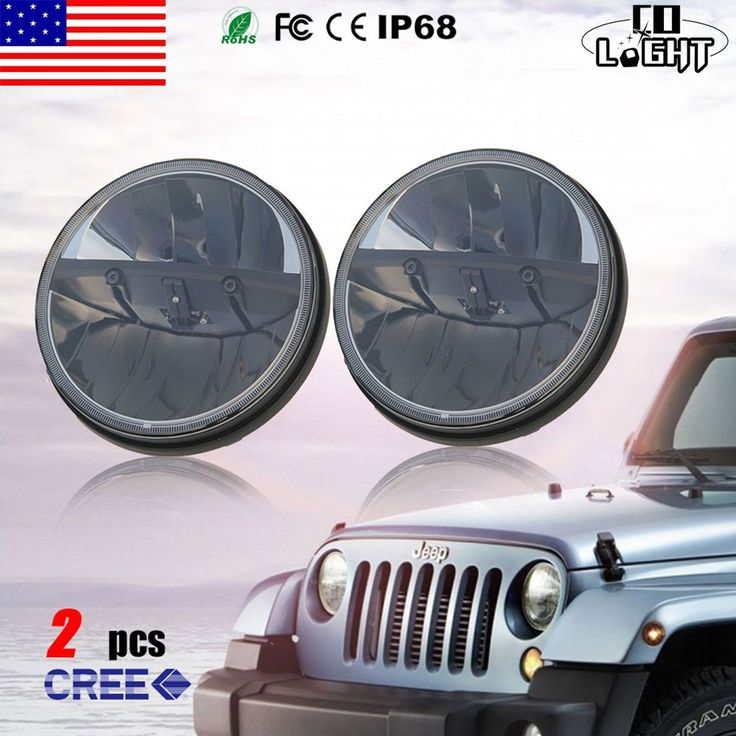 (113.50$)  Buy here - http://ai880.worlditems.win/all/product.php?id=32788642232 - CO LIGHT 7 Inch 12V 24V LED Work Light Spot/Flood Round LED Offroad Light Lamp Worklight for Off road Motorcycle Car Truck Hot