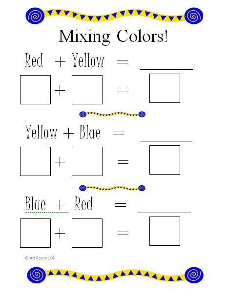Color Wheel Worksheet   Art Room 104: Primary Colors and Rainbows!