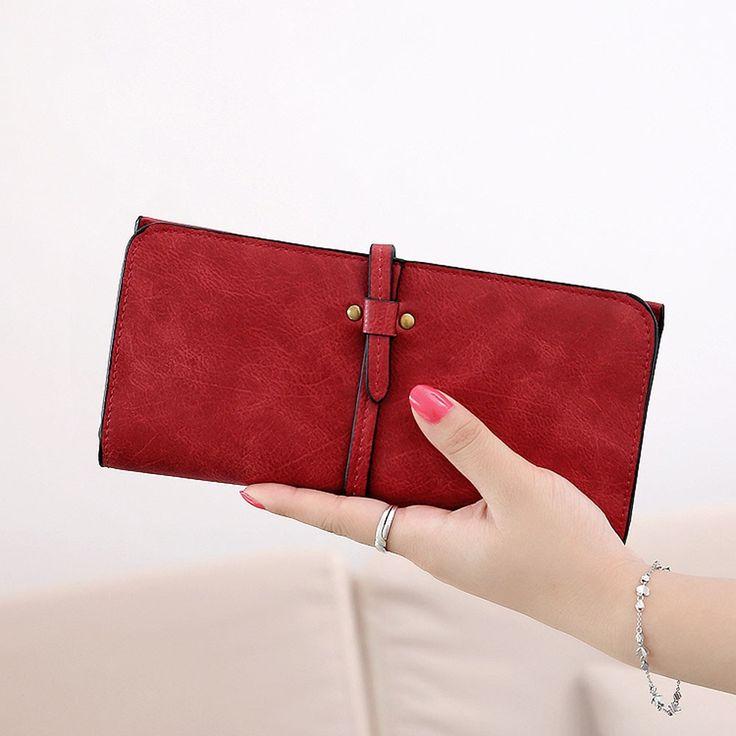 New2017 Fashion Lady Bags Women Wallets Drawstring PU Leather Handbags Zipper Wallet Purse Long 2 Fold Clutch Card Holder
