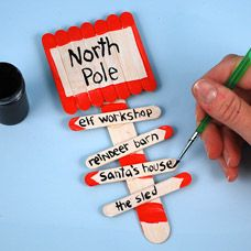North Pole Directional Sign DIY