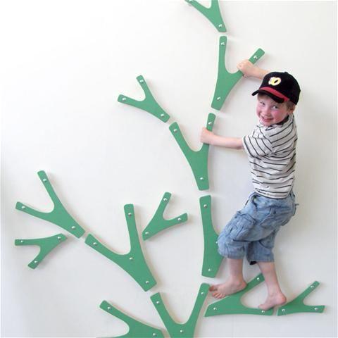 Indoor climbing tree by Kajja.net... instead of a rock wall