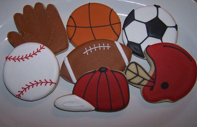 Sports Cookies by Alyson / Corner House Cookies, via Flickr
