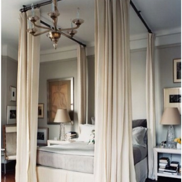 Screw Curtain Rods To Ceiling And Hang Curtains To Make