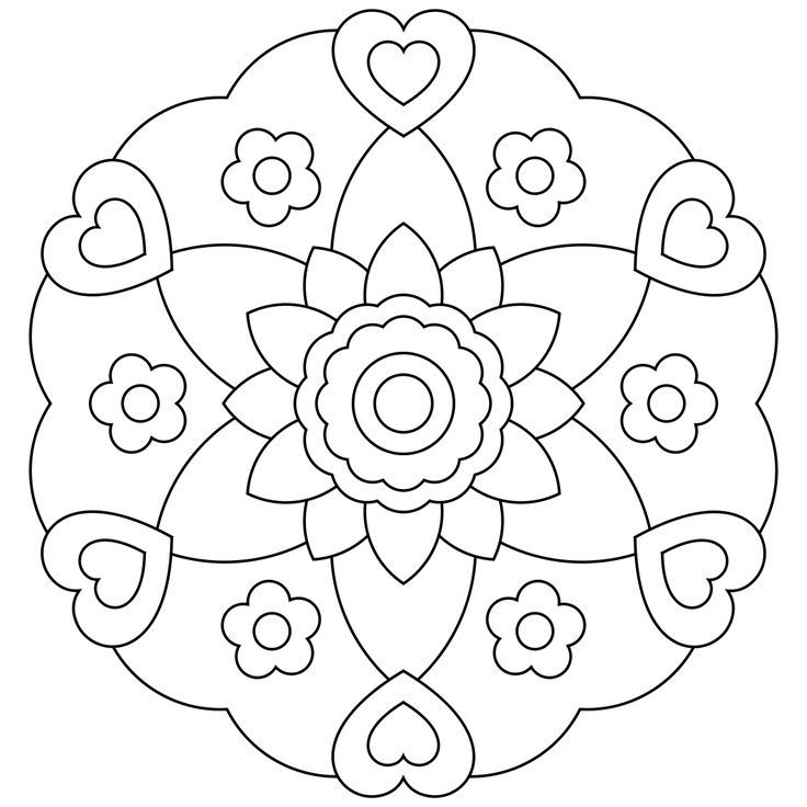 mandala coloring pages for kids coloring pages - Art Therapy Coloring Pages Mandala
