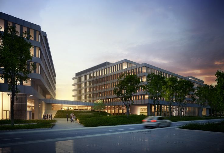 Park Rozwoju - a modern 'A' class office complex which is being developed by Echo Investment on Konstruktorska Street in Warsaw