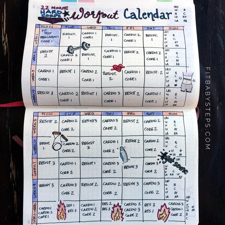 Got creative and planned out my workout schedule in my journal!!! So excited!