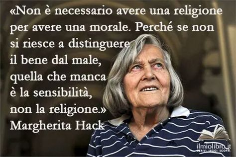 La scienziata Margherita Hack, atea a vegetariana. © degli Autori.