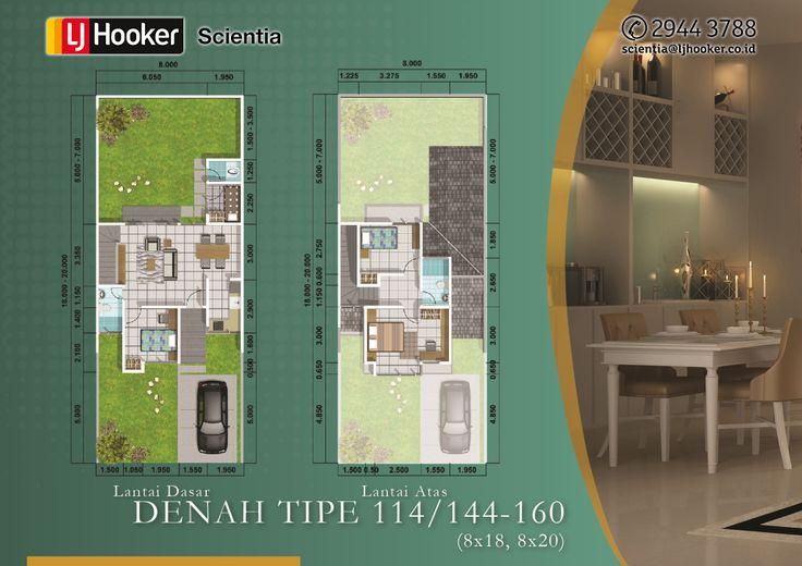 illustria - Denah Type 114/144 - 160 [ 8X18, 8X20 ]