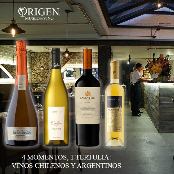 TERTULIA SOBRE VINOS CHILENOS Y ARGENTINOS. La casa DOMECQ patrocina esta noche (miércoles 4 de marzo) los vinos para nuestros clientes, es decir, serán de degustación. Harold Bermúdez, Gerente para Medellín de Pedro Domecq nos compartirá conocimiento acerca de los vinos de Chile y Argentina que se comercializan en nuestra ciudad. Reservas www.museodelvino.com.co/reservas.html, valor de los 4 momentos $ 50.000 + Servicio...