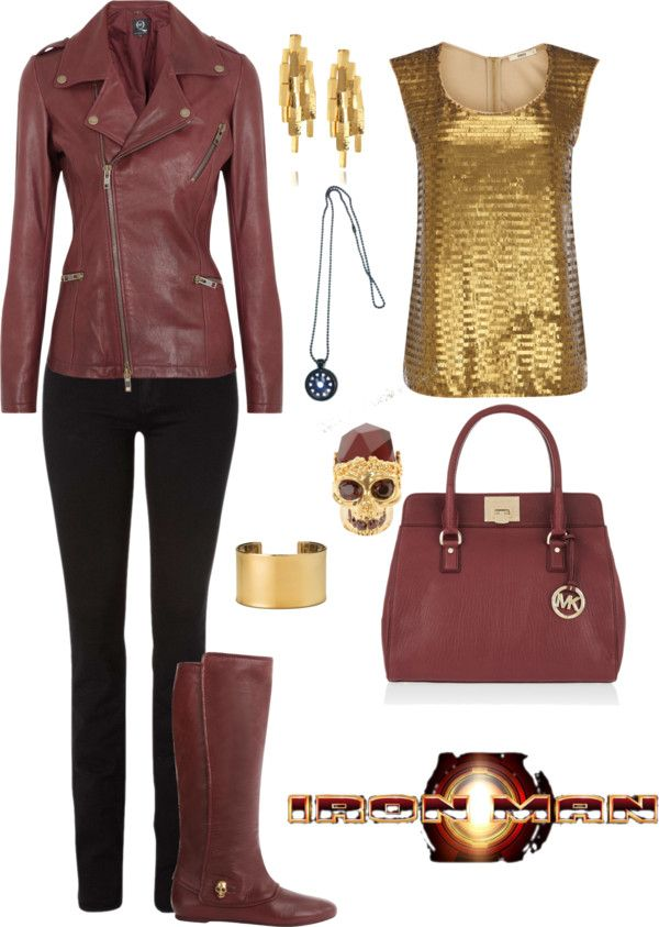 """""""Iron Man"""" by rockymtnrain on Polyvore  They call this one Iron Man, but it almost looks more like Prince Hal to me. Maybe without the gold top though."""