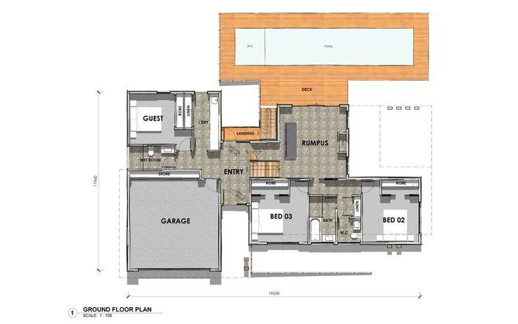 DS32:  Ground Floor - Custom design home in Highton, Victoria.  #floorplan #custombuilder #geelong