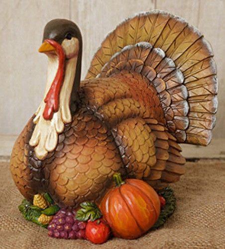 New Country Primitive HARVEST TURKEY Thanksgiving Figurine