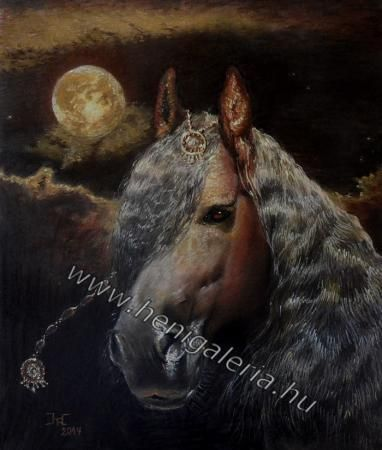 Holdutazó #olajfestmény  Moon traveller #oilpainting www.henigaleria.hu