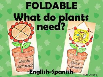 Your students will love learning about what plants need with this craft.It includes Spanish plant foldable too: Que necesitan las plantas