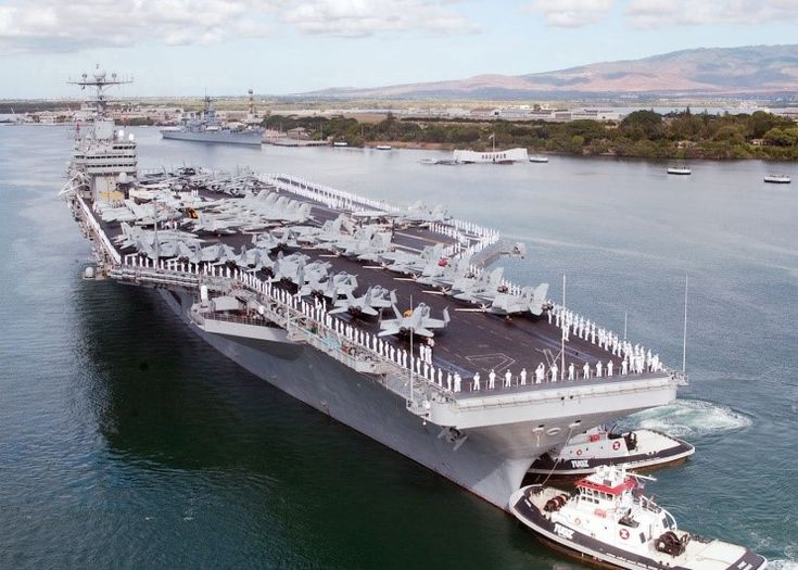 USS Abraham Lincoln | August 1, 2002: USS Abraham Lincoln CVN-72 arriving at Pearl Harbor ...