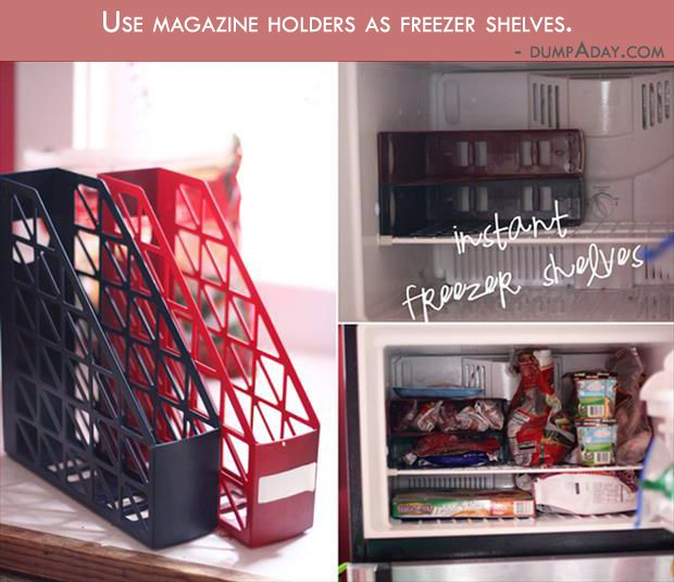 14 Genius Hacks For A Perfectly Organized Refrigerator: 17 Best Ideas About Magazine Holders On Pinterest
