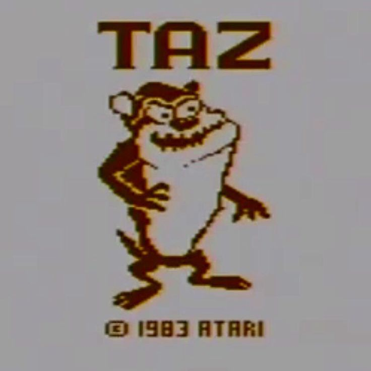 Interesting one by seffola #atari2600 #microhobbit (o) http://ift.tt/2fnfHAt title screen on the Atari 2600 #taz  #retrogaming #1983 #warnerbros