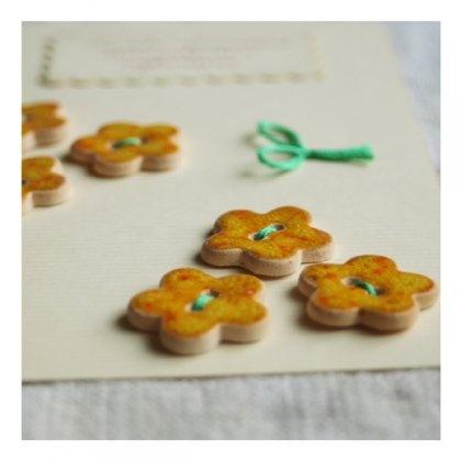 guziki ceramiczne // ceramic buttons // słoneczne (proj. Karolina Gletkier)