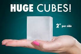 Valentines Gift For Him – Giant Ice Cube Tray LARGE ICE CUBES KEEP DRINKS COOLER LONGER – Extra large ice cubes cool your drinks longer without over diluting them. Not just for ice cubes, make frozen juice, coffee, or tea cubes – the only limit is your imagination – 2 trays for more fun. An awesome Valentines Gift For Him