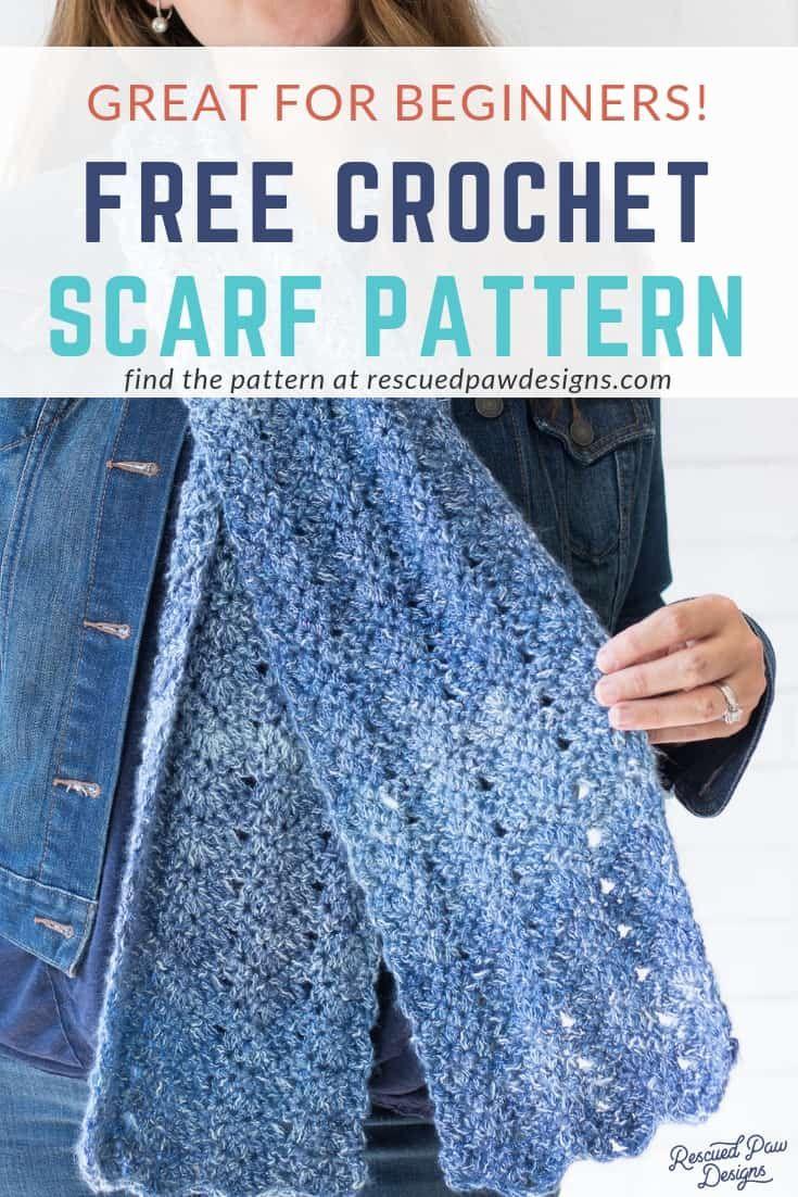 Luna Chevron Scarf Crochet Pattern