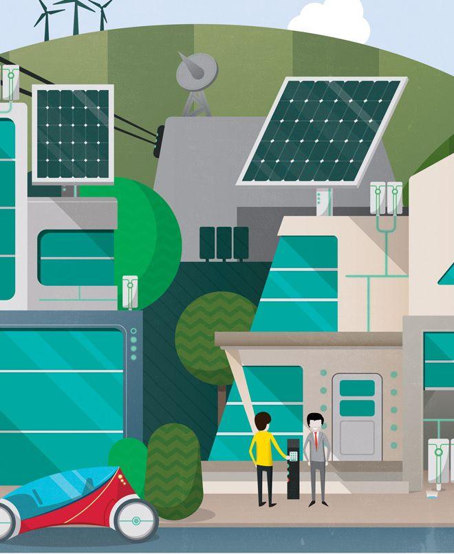 Crush | Siemens - Future Cities Illustration