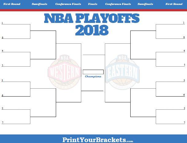 2018 NBA Playoff Bracket - Printable
