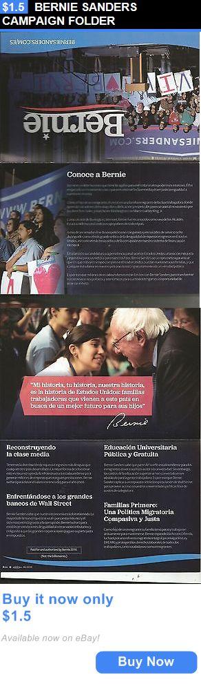 Bernie Sanders: Bernie Sanders Campaign Folder BUY IT NOW ONLY: $1.5